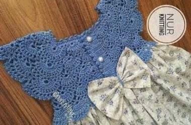Canesú para niñas en Crochet