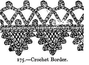 crochet edging vintage look free pattern beeton's book