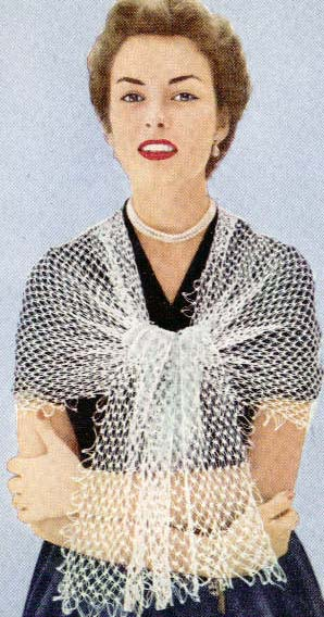 timeless shawl, diaphanous peachtree street crocheted vintage shawl