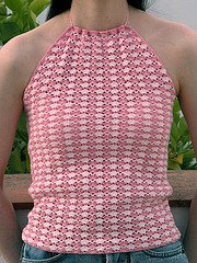 crochet pink halter on flikr