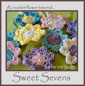 crocheted spring flowers