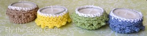 crochet tea light cozy