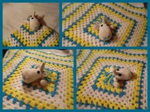 unicorn granny blanket