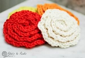 crochet flower face cleaner