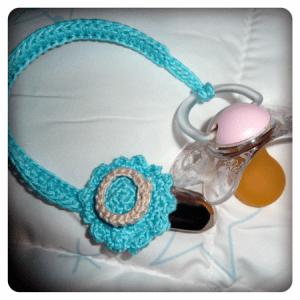 crocheted binky holder