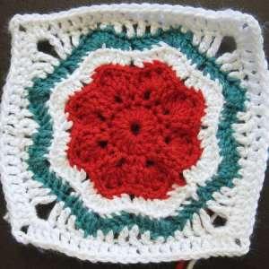 crochet granny square nordic star