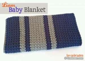 crochet liam baby blanket