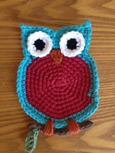 crochet owl coaster free pattern