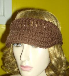 crochet sun visor free pattern