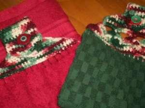 crochet plush towel topper tutorial