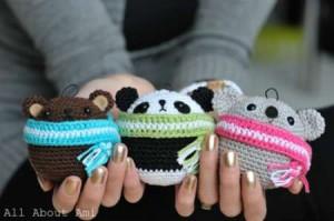 crochet teddie ornament amigurumi