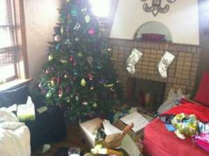 cro opened presents under tree 1213