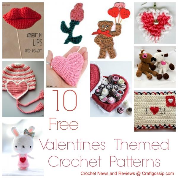Free Patterns 10 Valentines Day Crochet Patterns Crochet