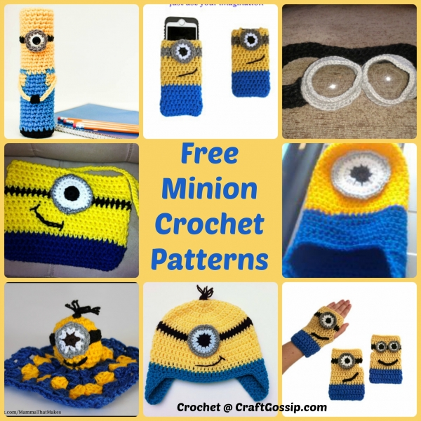 Minion Crochet Patterns Crochet Delectable Free Minion Crochet Pattern