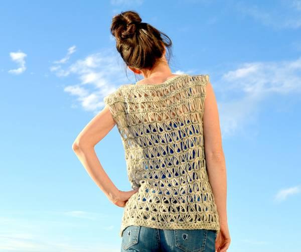 Diy Broomstick Stitch Lace Vest Crochet