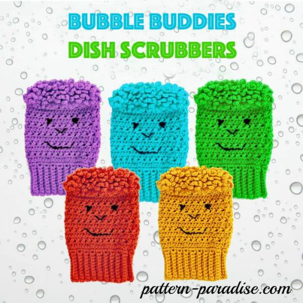 Bubble-Buddies-Dish-Scrubbers-by-Pattern-Paradise.com_