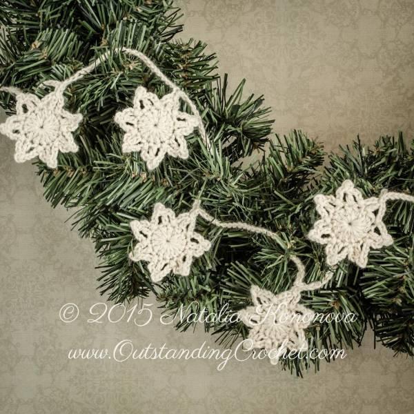Free Pattern Snowflake Garland Crochet