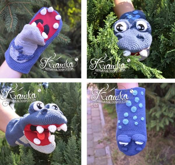 Free Pattern Dinosaur Hand Puppet Crochet