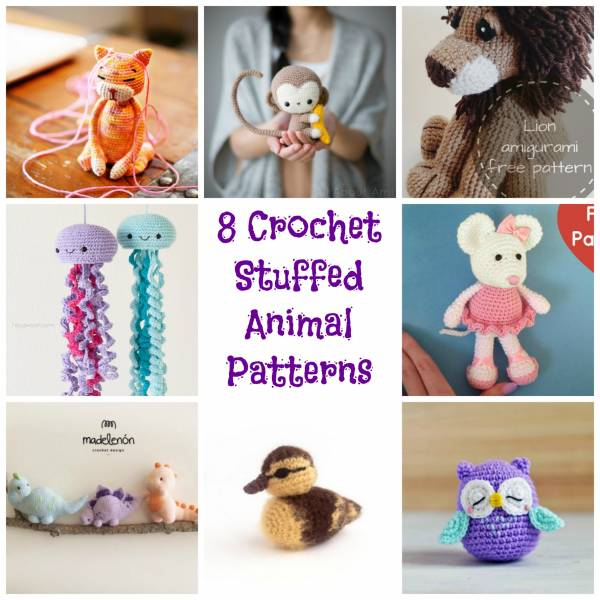 8 Crochet Stuffed Animal Patterns Crochet
