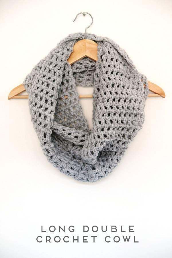 Long Crochet Cowl Pattern Crochet