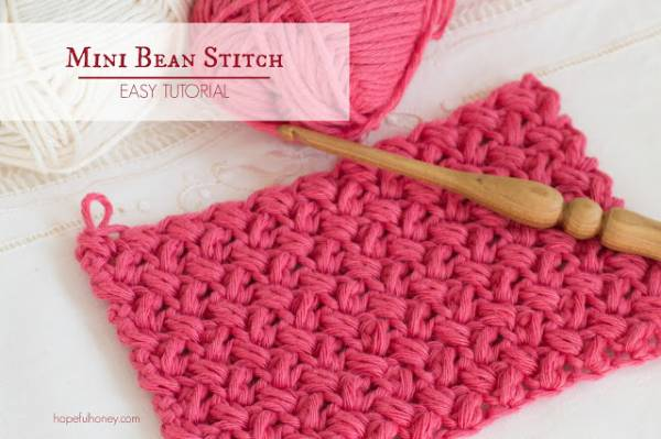 Crochet Bean Bag Tutorial : The Mini Bean Stitch ? Easy Tutorial Crochet ...