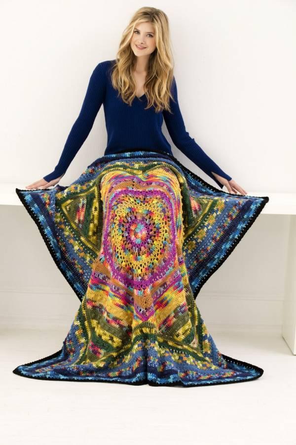 Free Pattern Mandala Afghan Crochet