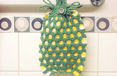 DIY Pineapple Wash Cloth
