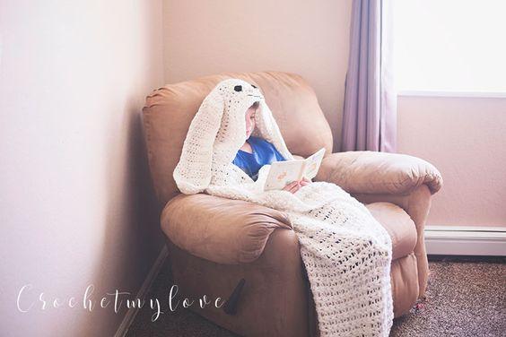 Giant Hooded Easter Bunny Blanket Pattern