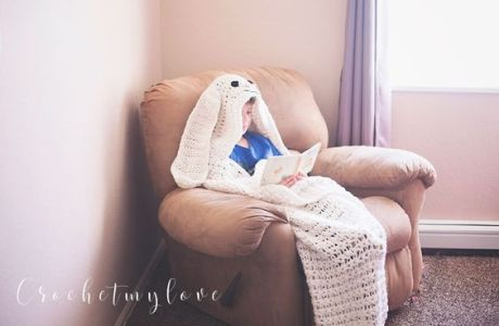 Giant Hooded Easter Bunny Blanket Pattern