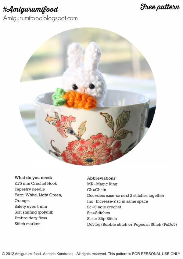 Tiny Bunny in Skirt (Free Pattern) | Bambini | 849x600