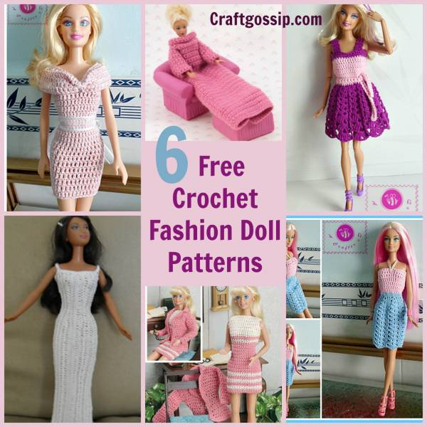 6 Barbie Fashion Doll Patterns