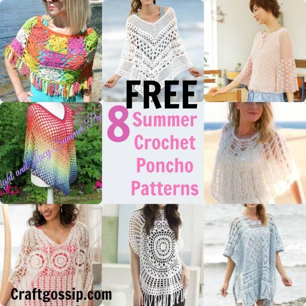 8 Summer Crochet Poncho Patterns