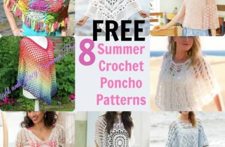 8 Summer Crochet Poncho Patterns