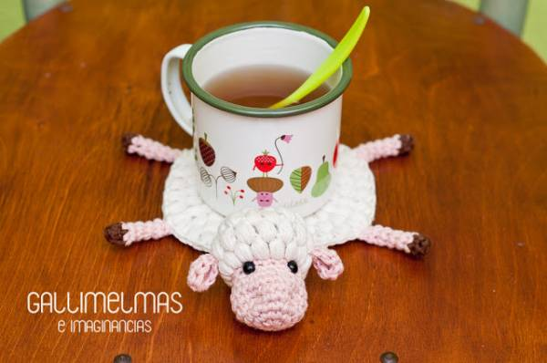 Crochet Pattern –  Squished Sheep Coaster
