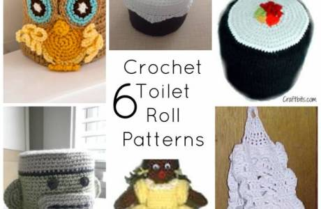 6 Crochet Toilet Roll Covers