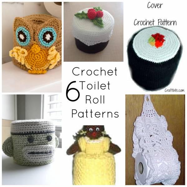 6 Crochet Toilet Roll Covers Crochet