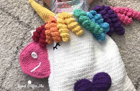 Unicorn Snuggle Sack Crochet Pattern