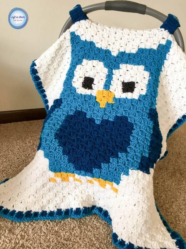 Crochet Pattern Owl Baby Car Seat Cover Crochet