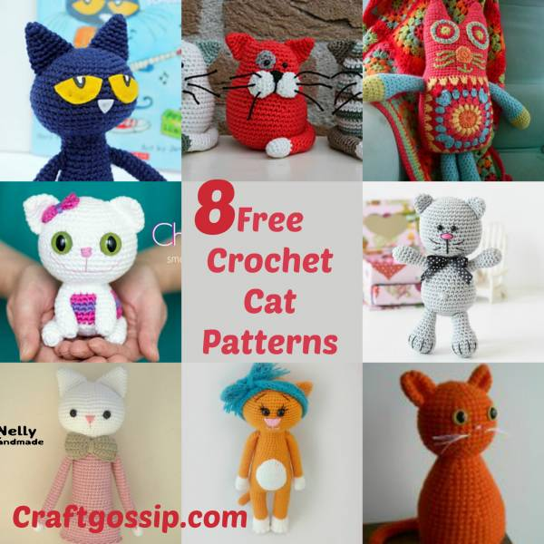 Crochet Pattern Crazy Crochet Cats Crochet