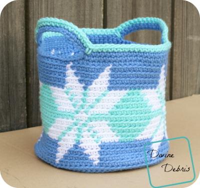 Snowflake Crochet Basket Pattern
