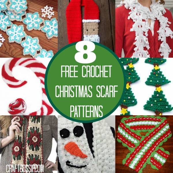 8 Festive Christmas Crochet Scarf Patterns