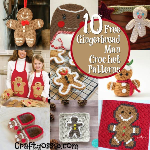 10 Christmas Gingerbread Man Crochet Pattern Crochet