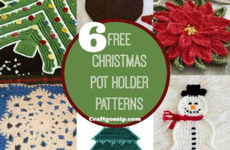 6 Christmas Pot Holders You Can Crochet