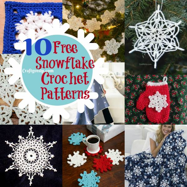 10 Christmas Snowflake Crochet Patterns
