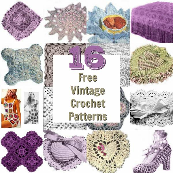 16 Vintage Crochet Patterns Crochet