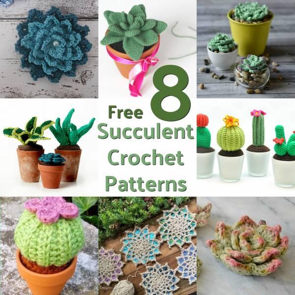 20 Desert Cactus Amigurumi Crochet Patterns - Look Surprisingly Real | 600x600