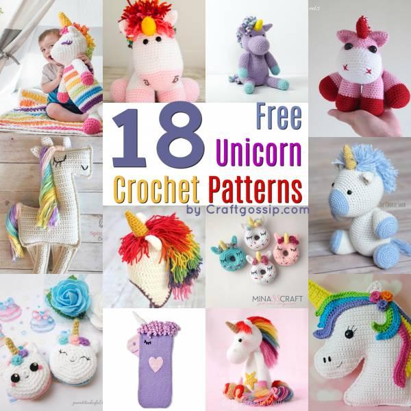 crochet free patterns unicorn scarf slipper beanie toy ragdoll amigurumi