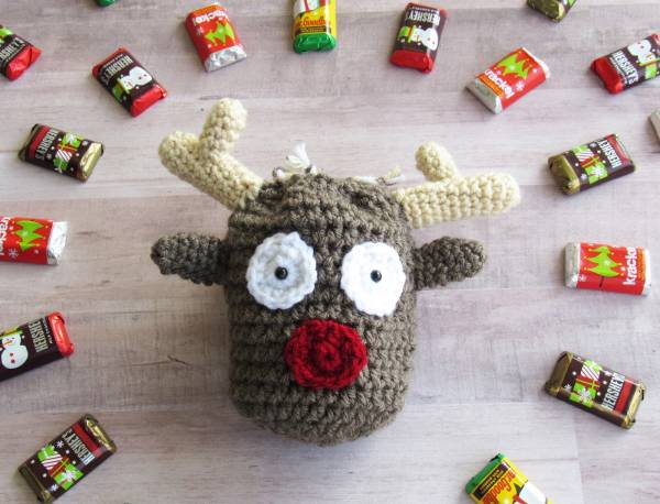 Reindeer Christmas Treat Bag Crochet Pattern Crochet