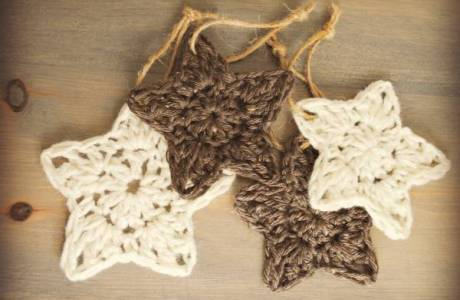 Crochet Pattern – Christmas Star Tree Ornament
