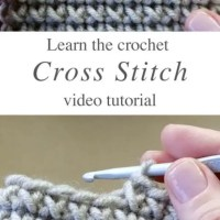 How To Crochet Stitches -  Cross Stitch